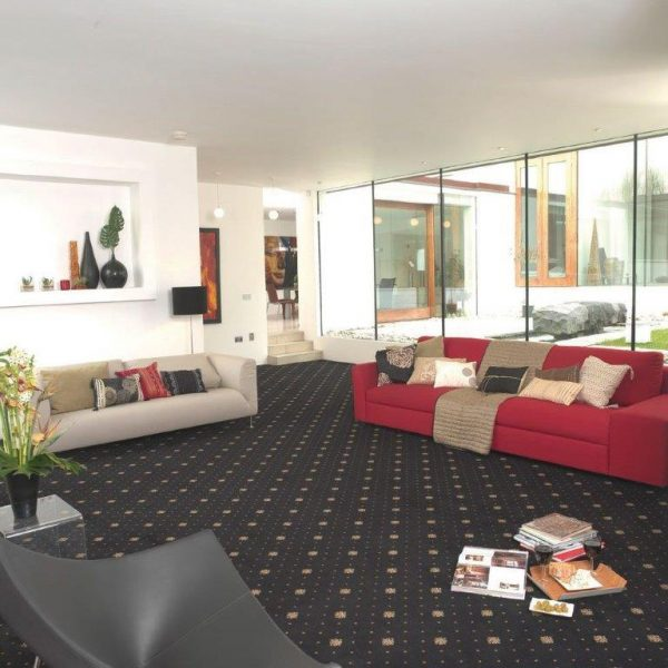 Athenia Motif Black Carpet Belfast