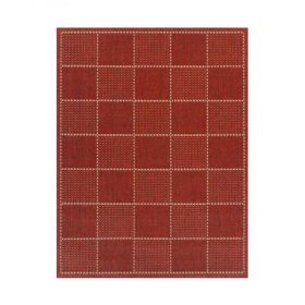 Check Flat Weave Red Rugs Belfast