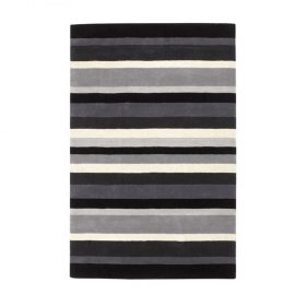 Jazz Stripes Charcoal Rugs Belfast