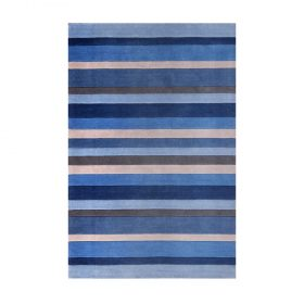 Jazz Stripes Dusky Blue Rugs Belfast