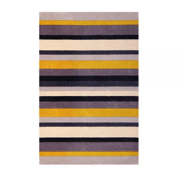 Jazz Stripes Yellow Rugs Belfast