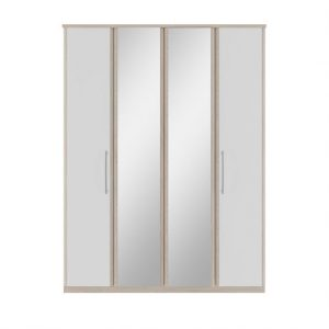 mirror white 4 door wardrobe belfast uk ni ireland