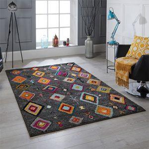 pattern charcoal dark rug uk belfast ni ireland floor carpet belfast shop home