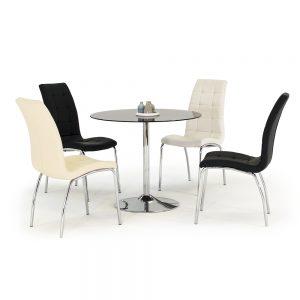 black glass dining table round belfast uk ni ireland