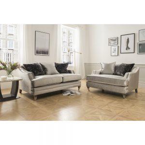 2 seater grey fabric sofa uk ni ireland