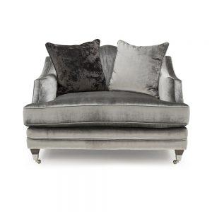 snuggle chair grey velvet silver belfast sofas sale uk ni ireland