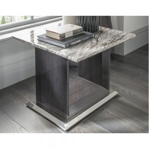 grey silver gloss marble lamp table high quality belfast uk ni ireland england