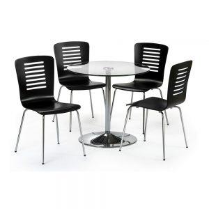 glass gloss black dining furniture chair table belfast uk ni ireland