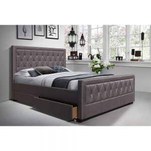 bed fabric grey charcoal sale bedstead furniture bedroom belfast uk ni ireland