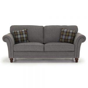 fabric grey 3 seater belfast uk ni ireland sofas sale