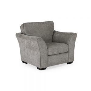 uk ireland belfast sofa 1 seater grey fabric sale