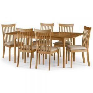 wood oak dining set table chair belfast uk ni ireland