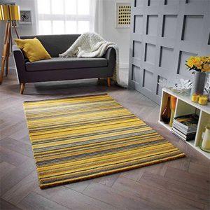 yellow stripe rug floor carpet belfast uk ni ireland shop home