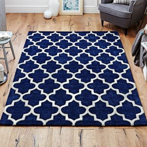 blue rug geometric white pattern blue caarpet floor shop sale belfast uk ni ireland