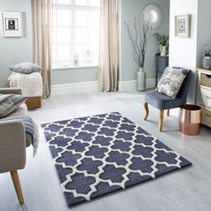 slate grey charcoal dark geometric white rug pattern floor carpet shop uk ni ireland belfast