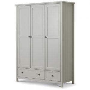 3 door grey wardrobe wood bedroom furniture shop home belfast ni ireland uk