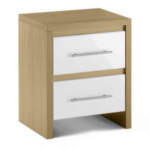 2 drawer bedside white oak bedroom furniture home shop uk ni ireland belfast