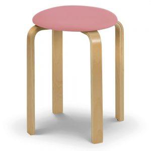 pink fabric wood pine oak stool furniture shop home decor uk ni ireland belfast sale