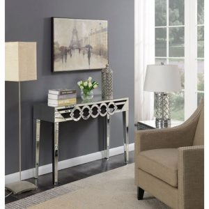 console table stylish mirrored