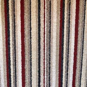 red stripe beige carpet