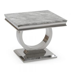 grey marble lamp table silver