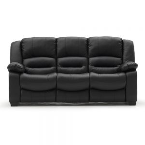 3 seater recliner black