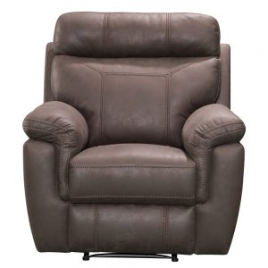 1 seater sofa brown leather