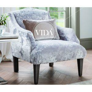 champagne accent velvet chair