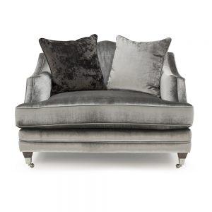 pewter velvet chair snuggle