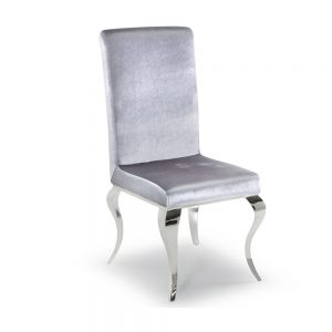 Louis Dining Chair Silver Belfast