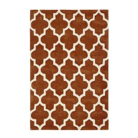 Arabesque Rust Rugs Belfast