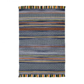 Kelim Stripes Charcoal Rugs Belfast