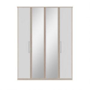 Azure tall 4dr mirror wardrobe belfast