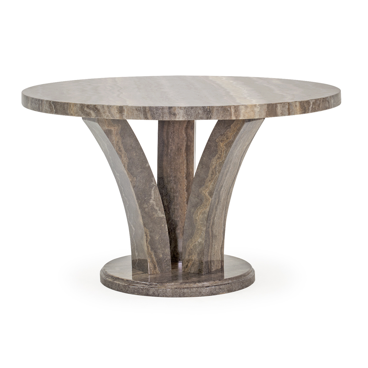 Amelia Round Dining Table Pearl Grey