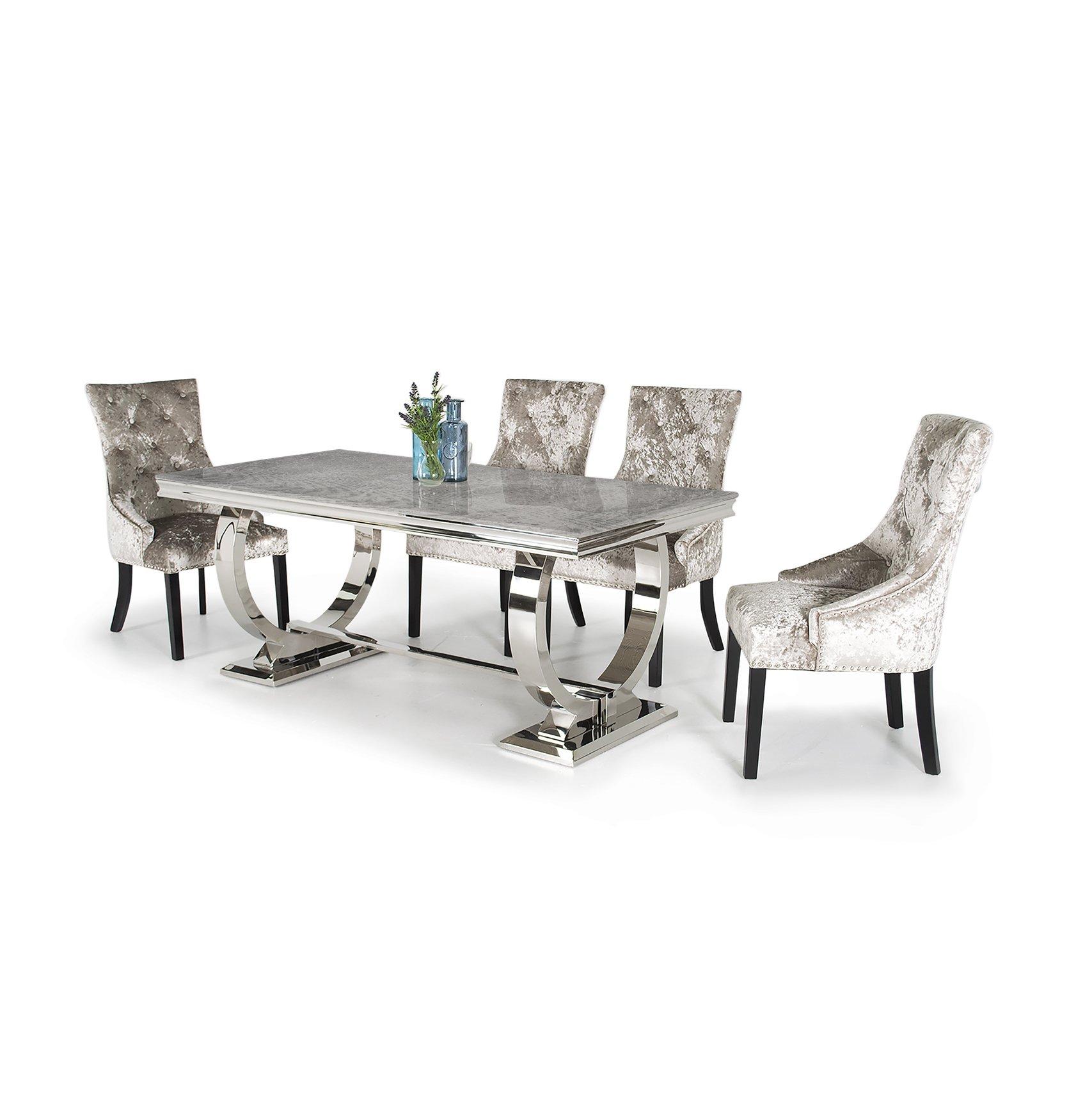 Arianna Dining Table Grey Marble