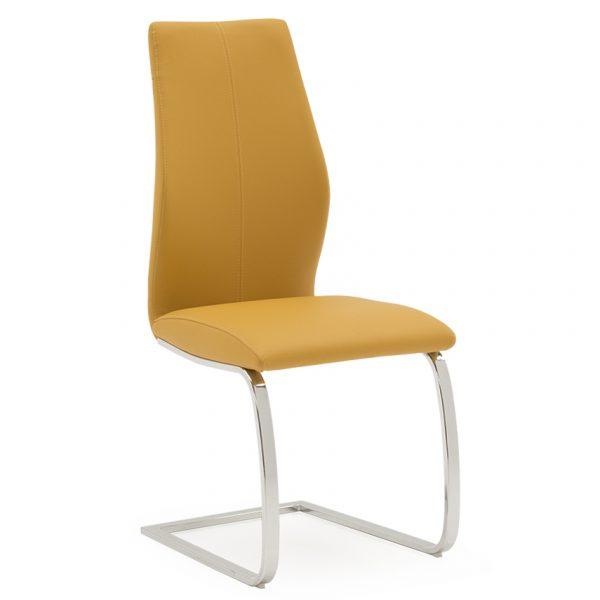 faux leather pumpkin yellow orange dining chair belfast uk ni ireland