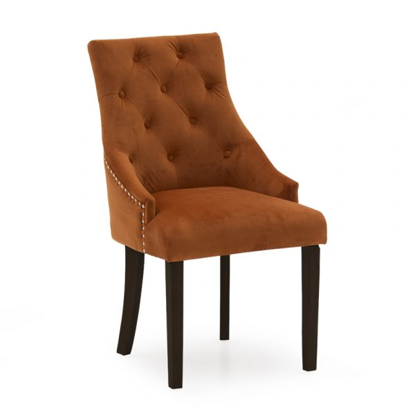 pumpkin orange velvet chair belfast uk ni ireland