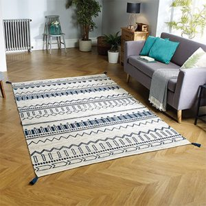 blue pattern rug floor carpet belfast uk ni ireland home shop