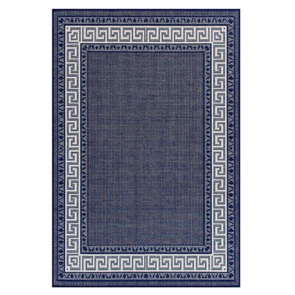 blue greek flatweave rug belfast ni ireland