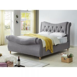 bed bedstead fabric grey belfast uk ni ireland sale bedroom