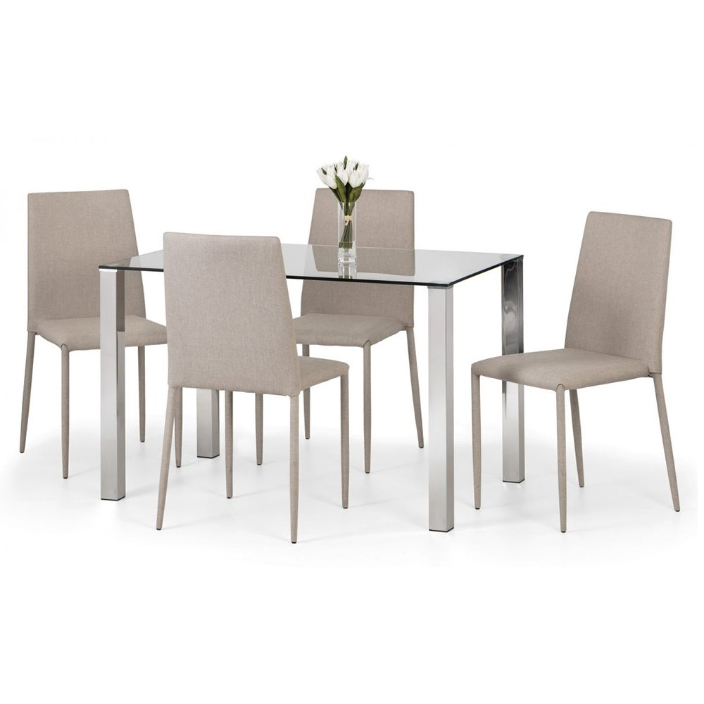 Enzo & Jazz Dining Set (+5 Chairs Sand)