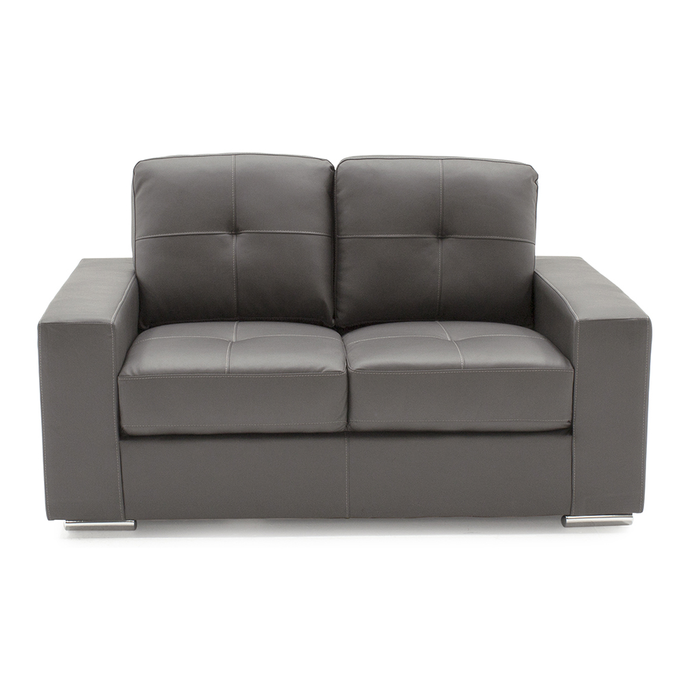 Leather Sofas For Sale In Northern Ireland: Gemma 2 Seater Grey - Rite Price