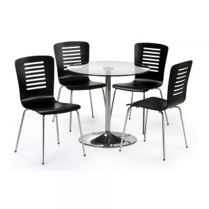 glass gloss black dining furniture chair table belfast uk ni ireland