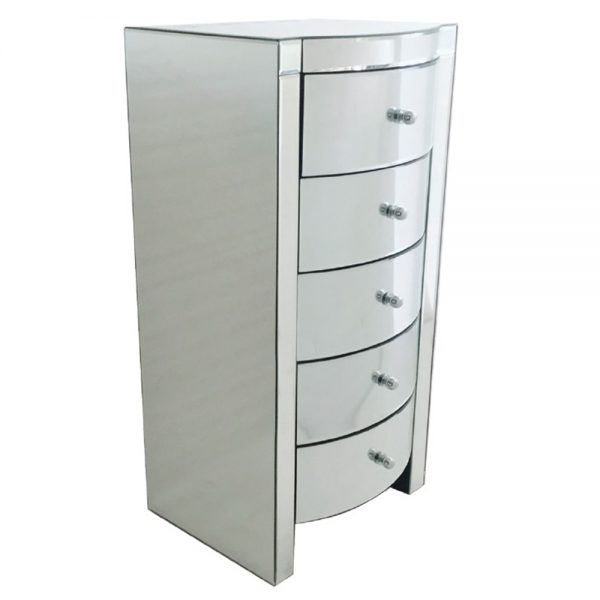 mirrored 5 drawer tall chest belfast ukni ireland