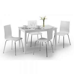 white gloss dining tabel chair set belfast uk ni ireland