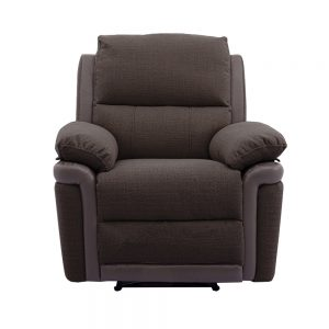 1 seater recliner sofa brown dark fabric belfast uk ni ireland