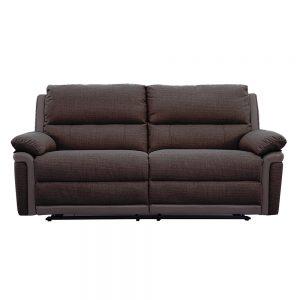 brown fabric leather recliner 3 seater belfast uk ni ireland