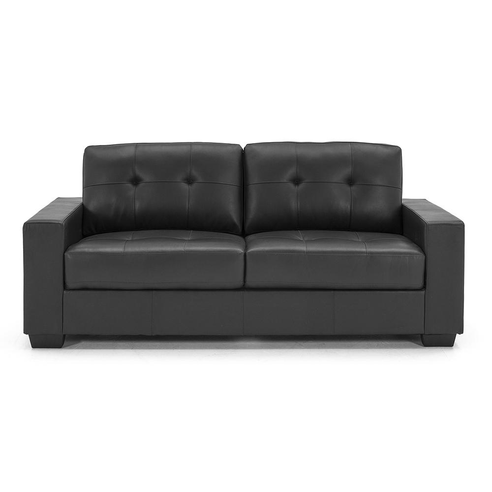 Leather Sofa Wholesalers Uk: Gemma 3 Seater Black - Rite Price