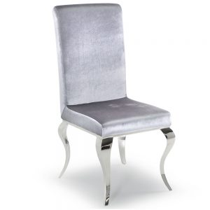 silver velvet dining chair furniture sale belfast uk ni ireland
