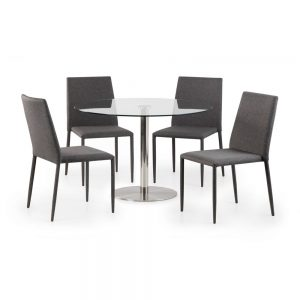 glass round dining table set chairs grey furniture sale belfast uk ni ireland
